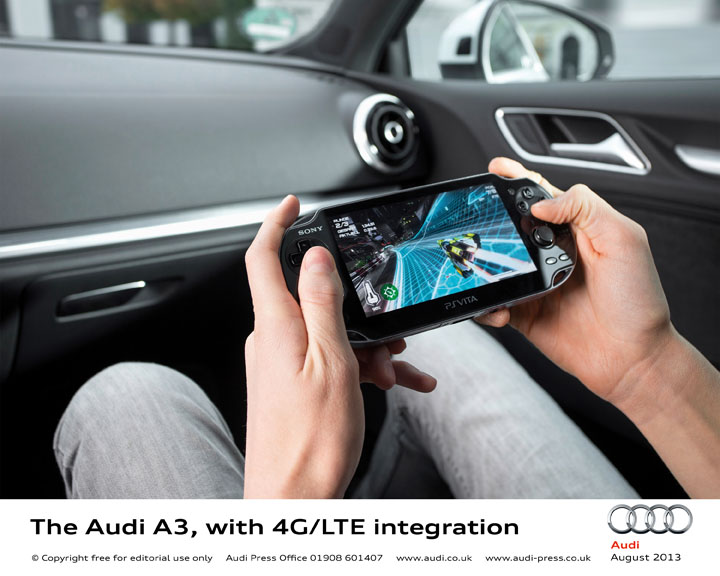 The Audi A3 with 4G LTE integration