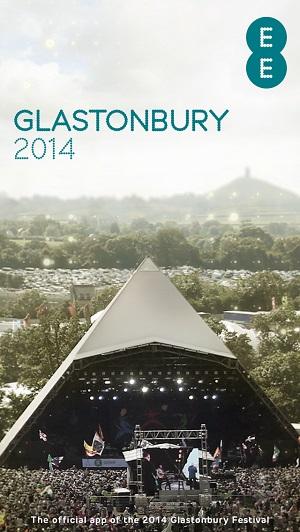 EE 4G Glastonbury App